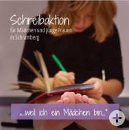 Titelseite des Flyers zur Schreibaktion für Mädchen und junge Frauen in Schramberg